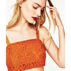 NWT Zara Lace Crop Top Bralette